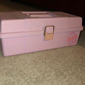 VTG plano kid caboodles pastel purple case